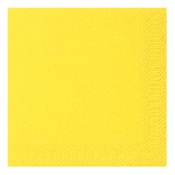 Tissue-Servietten Uni Yellow
