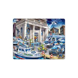 Larsen Puzzle Rahmen-Puzzle, 43 Teile, 36x28 cm, Polizei, Puzzleteile