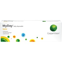 CooperVision MyDay Toric 30 St. / 8.60 BC / 14.50 DIA / -3.50 DPT / -0.75 CYL / 180° AX