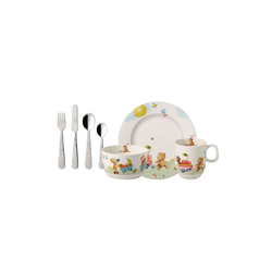 Villeroy & Boch Kindergeschirr-Set HUNGRY AS A BEAR Kindergeschirrset 7-tlg., Porzellan