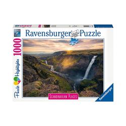 Ravensburger Puzzle Puzzle 1000 Teile Haifoss auf Island, Puzzleteile