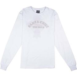 Tshirt SANTA CRUZ - Dressen Rose Cross LS Tee White (WHITE)