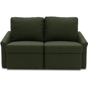 DOMO. collection Relax Dauerschläfer Boxspring Sofa mit Schlaffunktion, 2-Sitzer Schlafsofa Gästebett | 168 x 96 x 86 cm, grün