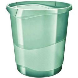 Papierkorb Colour'Ice PP 14l transparent grün