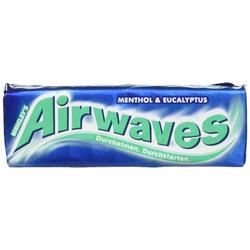 Wrigleys Airwaves Menthol und Eucalyptus Kaugummis 12er Pack