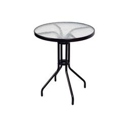 VCM Gartentisch Bistro Tisch mit Glasplatte