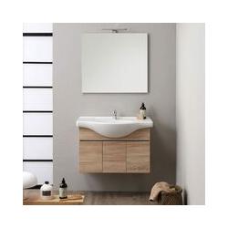 Waschtisch Mit Unterschrank 3 Türen Cm 85 Naturholz Farbe Silvia