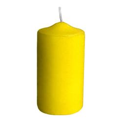 Stumpenkerzen Ø 40 x 80 mm, 10 Stunden Brenndauer, gelb, 4 Stk.
