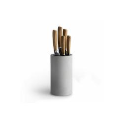 Springlane Messerblock Beton, Universal Messerhalter inkl. Messerset 5-tlg. grau