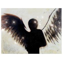 Ölgemälde Engel, 100% handgemaltes Wandbild Gemälde XL, 120x90cm