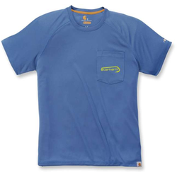 Carhartt Force Hengelsport grafische T-Shirt, blauw, S