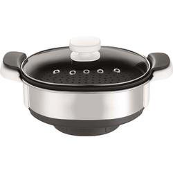 Krups Dampfgaraufsatz XF552D silberfarben Küchenmaschinen SOFORT LIEFERBARE Haushaltsgeräte