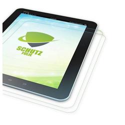 Wigento Tablet-Hülle 2x HD LCD Displayschutz für Lenovo Tab M7 TB-7305F Schutz Folie + Poliertuch