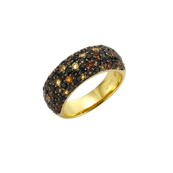 Jamelli Ring 925/- Sterling Silber Echtstein bunt 19,1