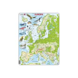 Larsen Puzzle Puzzle - Europa (physisch), Puzzleteile