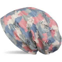 styleBREAKER Beanie Beanie mit Camouflage Muster Beanie mit Camouflage Muster rot
