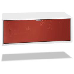 Vladon Lowboard Lana, Breite 80 cm rot