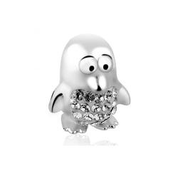 Nenalina Charm-Einhänger Pinguin-Anhänger Kristalle 925 Silber