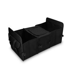 Navaris Organizer, Auto Kofferraum Organizer mit Kühlfach - 59 x 32 x 29cm - 5 Fächer - faltbar - KFZ Rücksitz Kofferraumtasche - Kofferraumbox schwarz