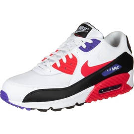 Nike Men's Air Max 90 Essential white-red-black/ white, 40.5