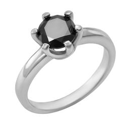 Mystischer Verlobungsring mit schwarzem Diamant 1ct Mukti