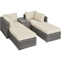 Tectake San Domino Lounge-Set grau