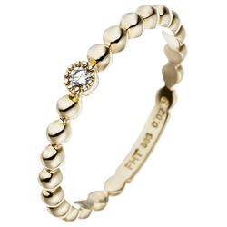 JOBO Diamantring, 585 Gold mit Diamant 0,02 ct. 54