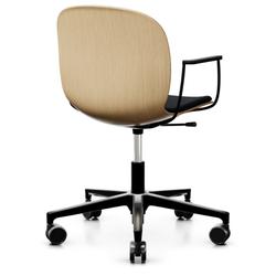 RBM Noor (6075S) Bürostuhl Konferenzstuhl Eichensitzschale mit Sitzpolster au...