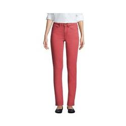 Farbige Straight Fit Jeans Mid Waist, Damen, Größe: 36 32 Normal, Rot, Denim, by Lands' End, Washed Scheinbeere - 36 32 - Washed Scheinbeere