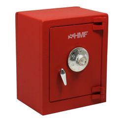 HMF Spardose 306, Minitresor mit Zahlenschloss, 13,5 x 11 x 8 rot 11 cm x 13.5 cm x 8 cm