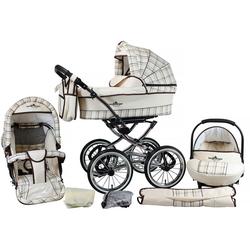 bergsteiger Kombi-Kinderwagen Venedig, classic beige, 3in1, (10-tlg), Made in Europe; Kinderwagen