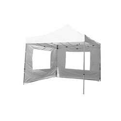 VCM Pavillon Falt Pavillon 3x3m weiß+2 Seitenteile, PROFI-Ausführung