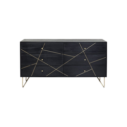 KARE Kommode Sideboard Gold Vein