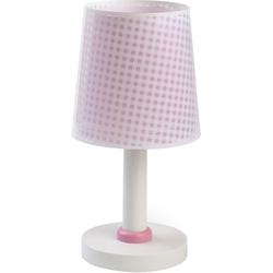 Dalber Nachttischlampe Tischlampe Vichy, blau rosa
