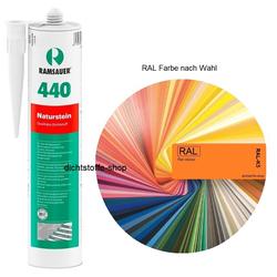 Ramsauer 440 Naturstein 1K Silicon Dichtstoff RAL 310ml Kartusche