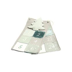 Hotex Wandkalender Adventskalender Tannenbaum grün/grau