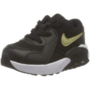 Nike AIR MAX EXCEE (TD) Running Shoe, Black/MTLC Gold Star-White, 25 EU