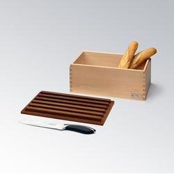 Legnoart CRISPY Brotkasten aus Eschenholz mit Schneidebrett 35cm