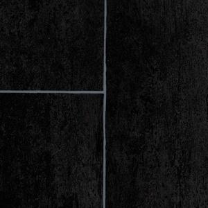 BODENMEISTER BM70518 Vinylboden PVC Bodenbelag Meterware 200, 300, 400 cm breit, Fliesenoptik anthrazit schwarz