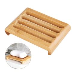 Gotui Seifenablage Seifenschale, Bambus Seifenhalter,Seifenlagerung(2 Stück/Set), Rechteck