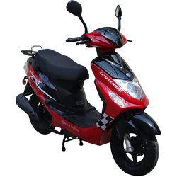 Alpha Motors Motorroller CityLeader, 50 ccm, 45 km/h, Euro 4, 50 ccm, 45 km/h, rot rot