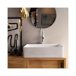 Tikamoon Waschbecken Waschbecken aus Keramik Ema weiß