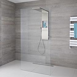 Walk-in Dusche Set Verschiedene Größen und Design wählbar - Iko, von Hudson Reed