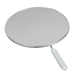 Metaltex Fritto Spritzschutz, verzinnt, Tropfschutzsieb aus feinperforiertem Alu-Steckmetall, Durchmesser: 29 cm