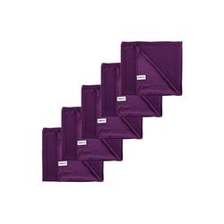 Kochblume Geschirrtuch Poliertuch 50 x 60 cm, (Spar-Set, 5-tlg), 280g/qm Qualtität lila