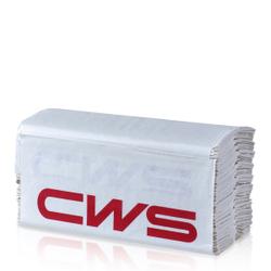 CWS Frottee Extra Faltpapier, 2-lagig, hochweiß, Hochwertiges Handtuchpapier aus 100% Recycling-Papier, C-Falz, 1 Karton = 20 x 144 = 2880 Blatt