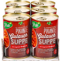 Pote Gulaschsuppe 400 ml, 6er Pack