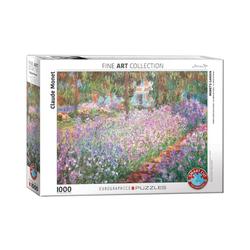 empireposter Puzzle Claude Monet - Garten bei Giverny - 1000 Teile Puzzle Format 68x48 cm., 1000 Puzzleteile