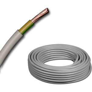 Mantelleitung Erdungskabel Erdungsleitung GRAU NYM-J 1x6 mm2 (mm2) Meterware auf den Meter genau - Auswahl in 1 Meter Schritten - Beispiel: 20 m - 25 m - 35 m - 50 m usw.
