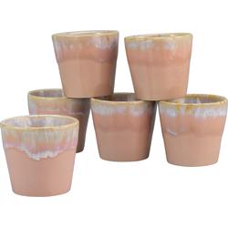 CreaTable Espressotasse Grespresso Espresso, (Set, 6 tlg.), 9 cl, 6-teilig rosa Becher Tassen Geschirr, Porzellan Tischaccessoires Haushaltswaren